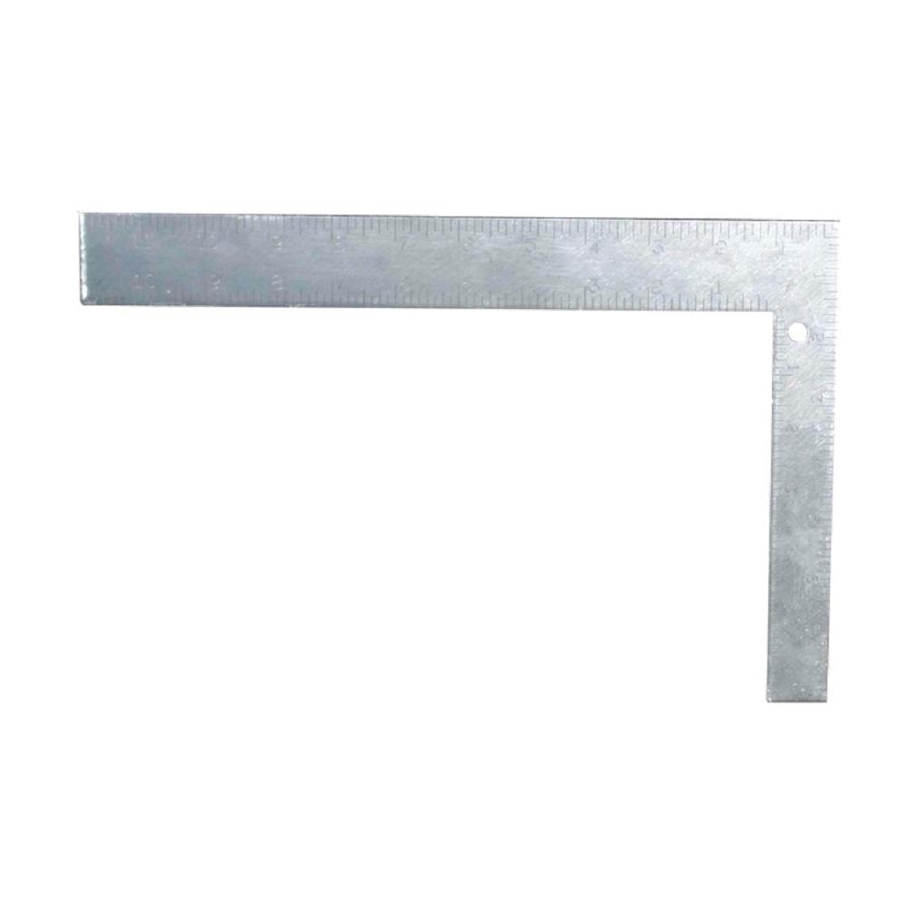 8 in. x 12 in. Etched Steel Square English/Metric
