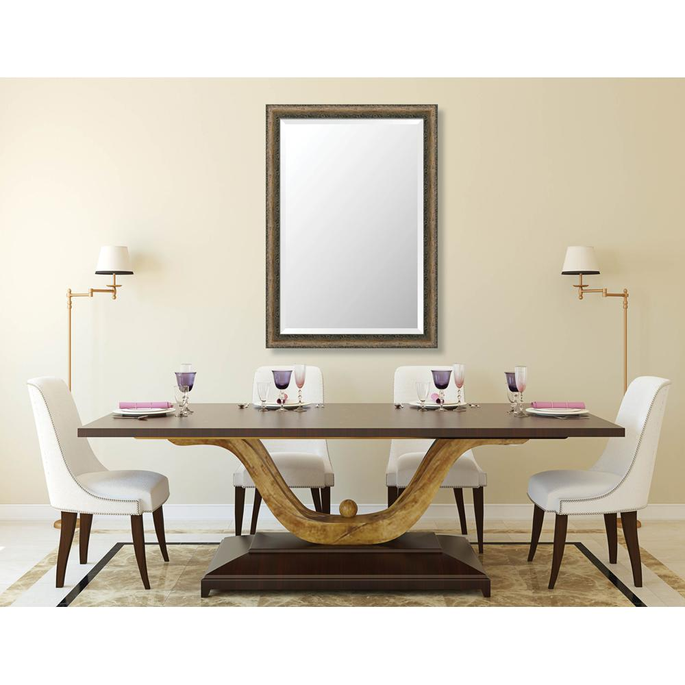 Richmond 28.375 in. x 40.375 in. Global Eclectic Framed Bevel Mirror
