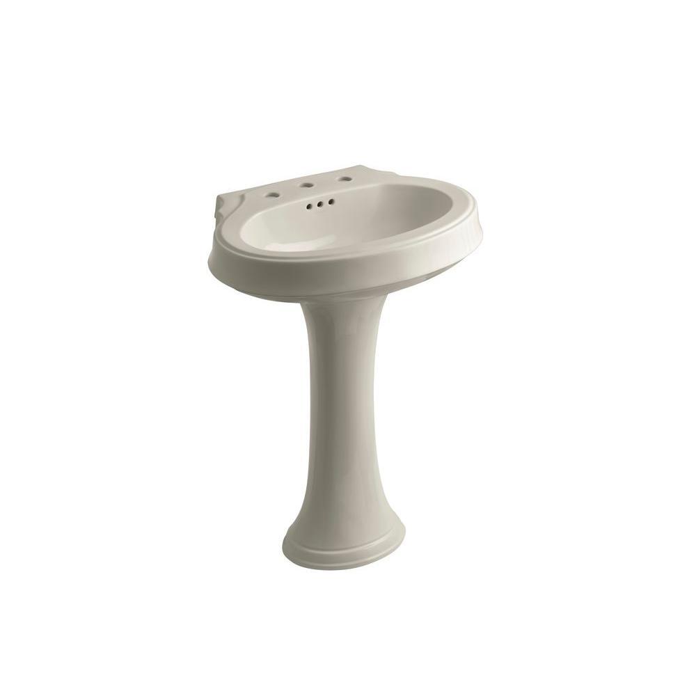 KOHLER Leighton Pedestal Combo Bathroom Sink in Sandbar
