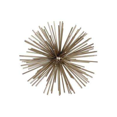 12.00 in. H Sculpture Decorative Sculpture in Gold Metallic