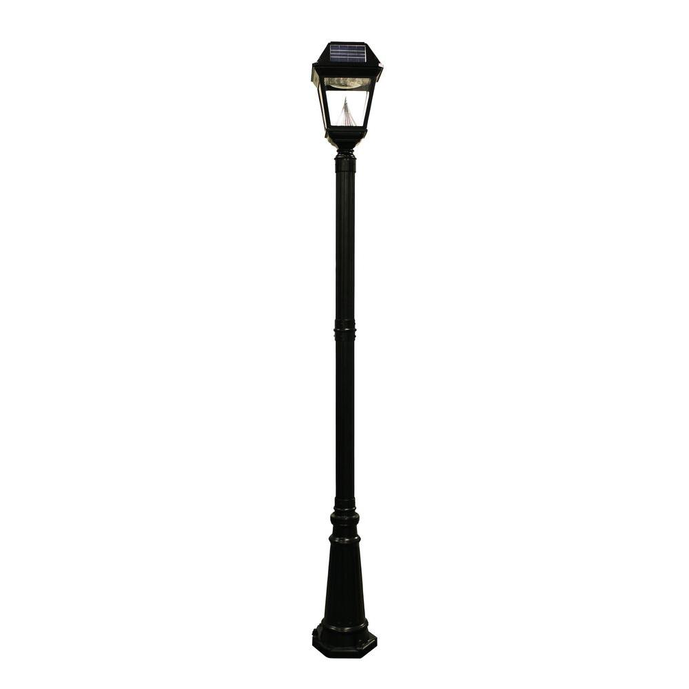 Imperial II Solar Black Outdoor Integrated LED Lamp Post with 21