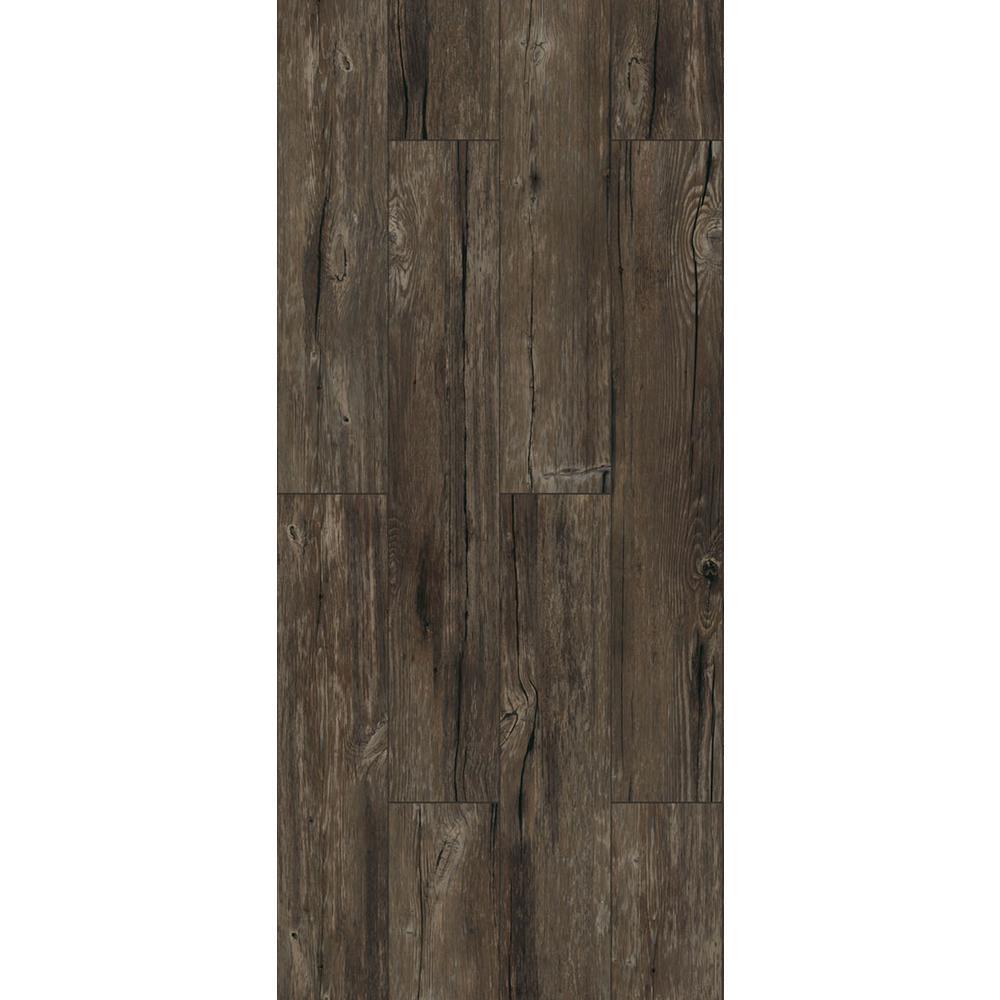TrafficMASTER Walnut Ember Grey 6 in. x 36 in. Peel and Stick Vinyl Plank (36 sq. ft. / case)