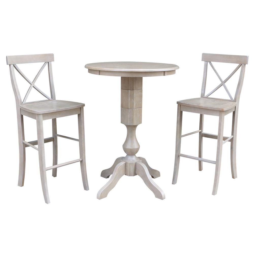 Coaster Contemporary Weathered Grey Bar Table 100156 The
