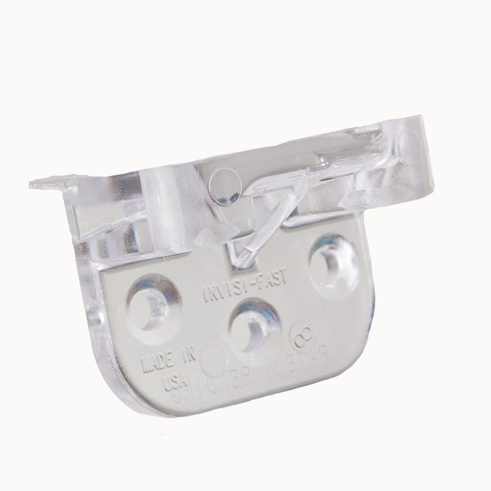 null Clear No Spacer Kit (Start/Stop Clip) Original Hidden Deck Fastener with Ceramic Coated Screws (36-Piece)