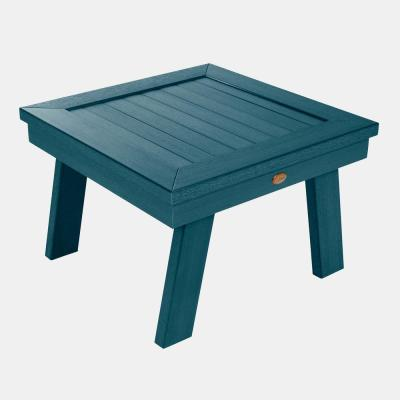 Adirondack Nantucket Blue Plastic Outdoor Side Table