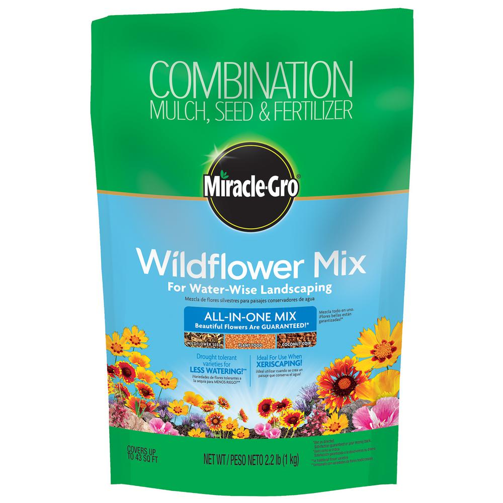 Miracle-Gro Wildflower All-in-1 Mix for Water-Wise Landscaping
