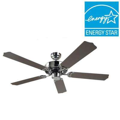 Quality Max 52 in. Chrome Indoor Ceiling Fan