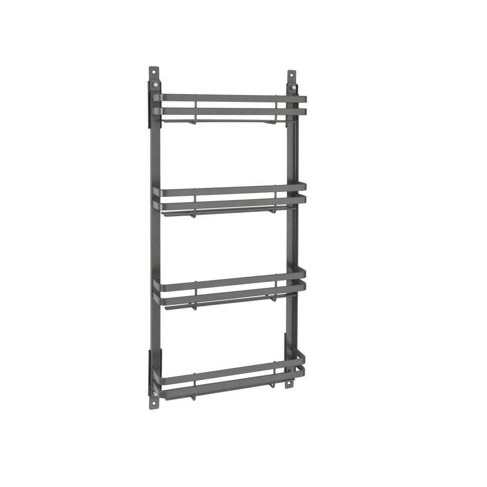 Medium Flat Metal Door Mount Spice Rack