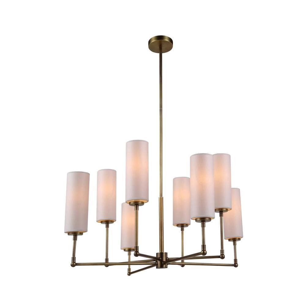Richmond 8-Light Burnish Brass Pendant