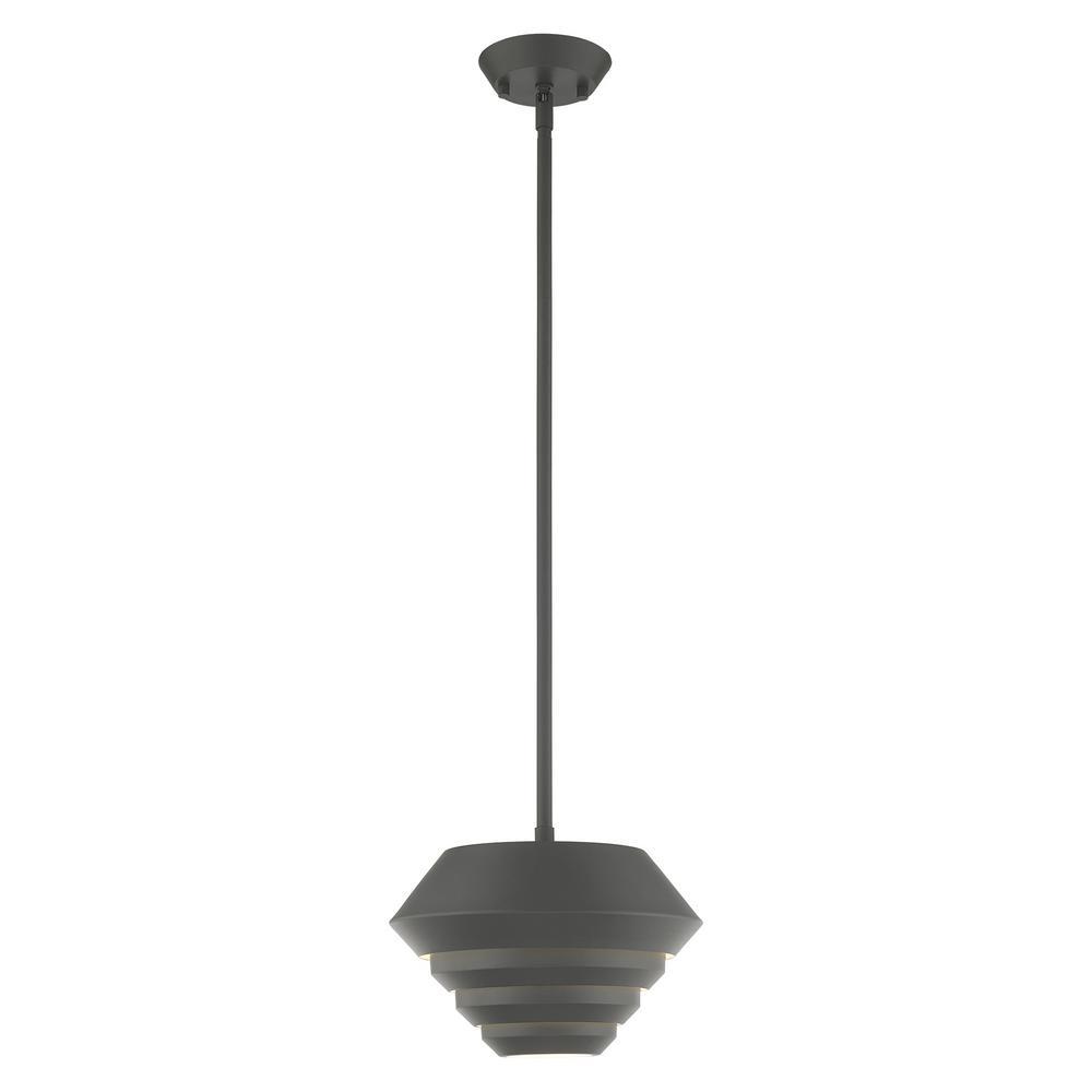 Livex Lighting Amsterdam 1 Light Scandinavian Gray Mini Pendant