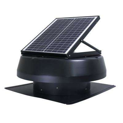 Smart Solar Attic Round 14 in. Black 1750 CFM, Cools up to 2000 sq. ft. Exhaust Fan