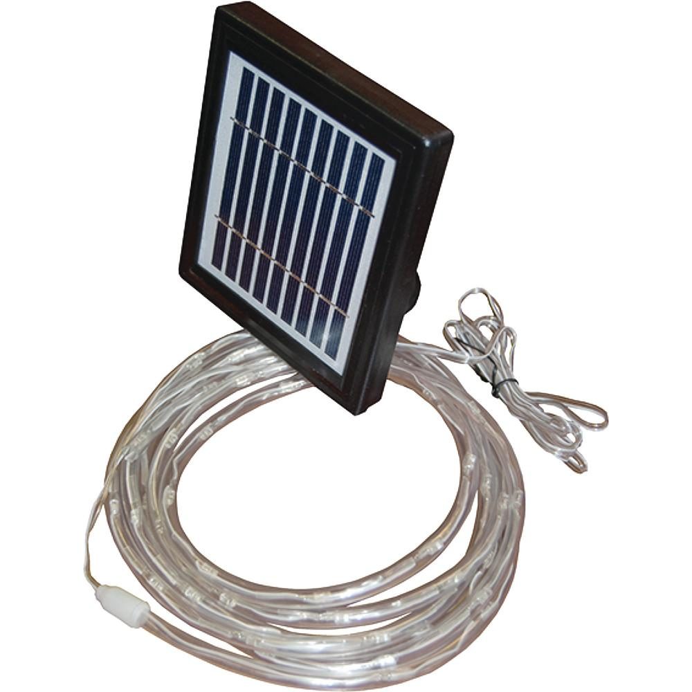 Taylor made products led solar rope light 46302 the home depot taylor made products led solar rope light mozeypictures Images