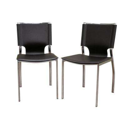 Montclare Brown Faux Leather Upholstered Dining Chairs (Set of 2)