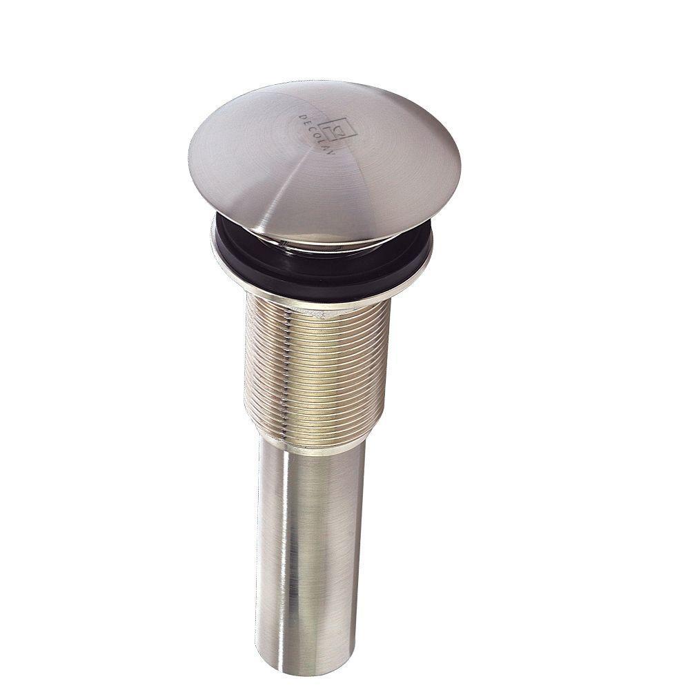 2-61/64 in. Brass Umbrella Drain without Overflow in Satin Nickel
