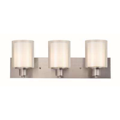 Penn 3-Light Satin Nickel Vanity Light
