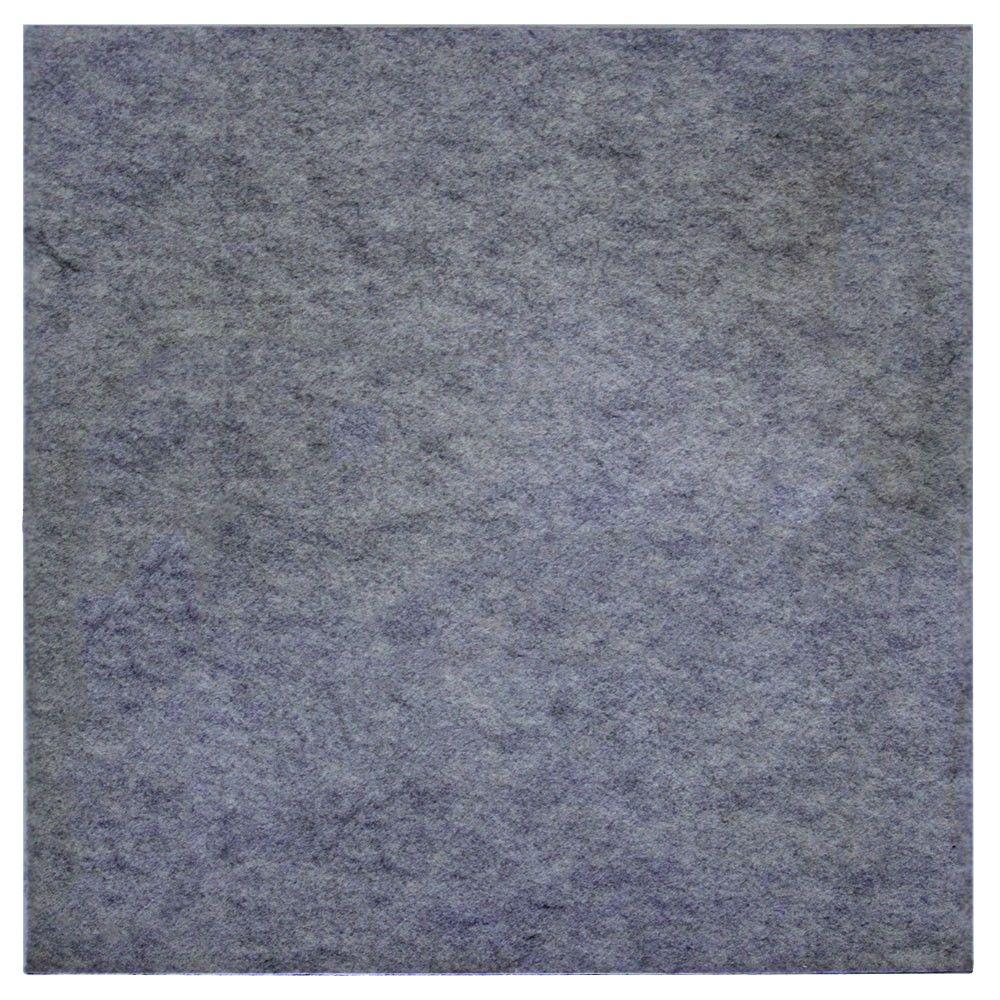 FeltForms 24 in. W x 24 in. L x 0.23 in. H Grey Acoustic Insulation Edge Panels (4-Pack)