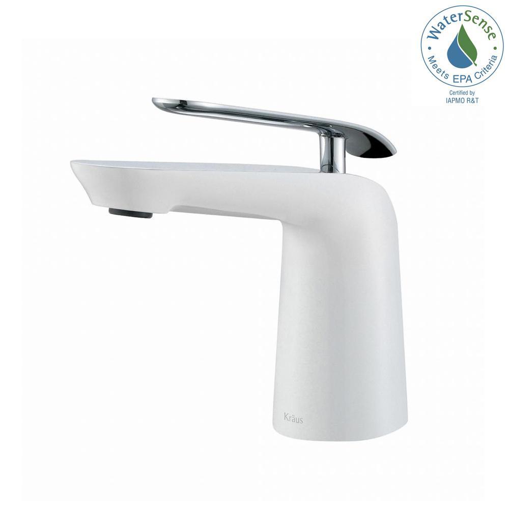 KRAUS Seda Single Hole Single-Handle Basin Bathroom Faucet in Chrome ...