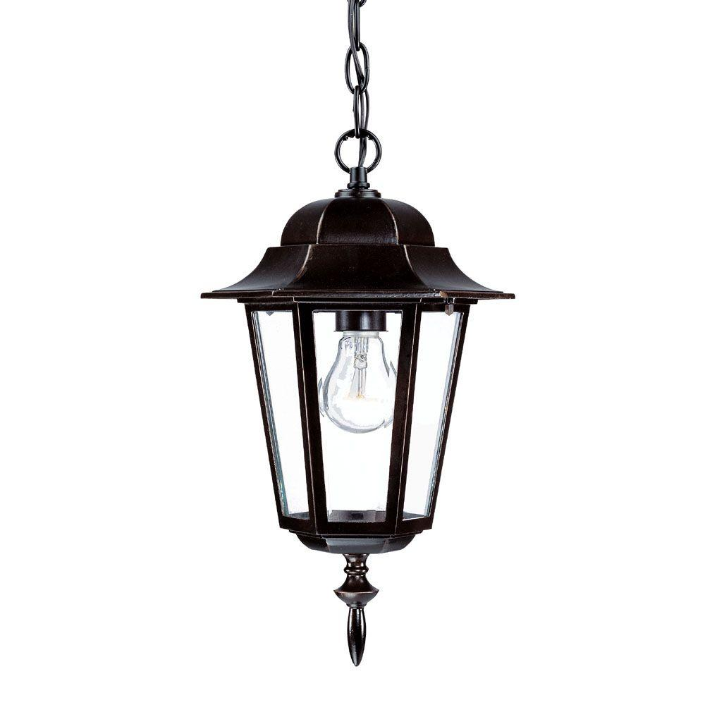 Acclaim Lighting Camelot Collection 1-Light Architectural Bronze Outdoor Hanging Lantern