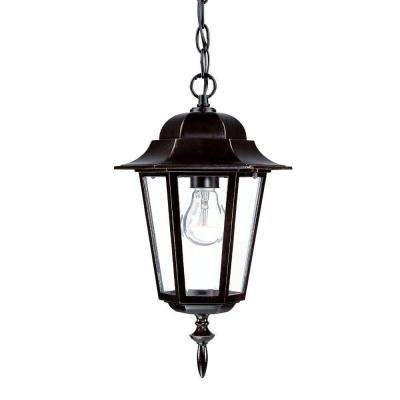 Camelot Collection 1-Light Architectural Bronze Outdoor Hanging Lantern