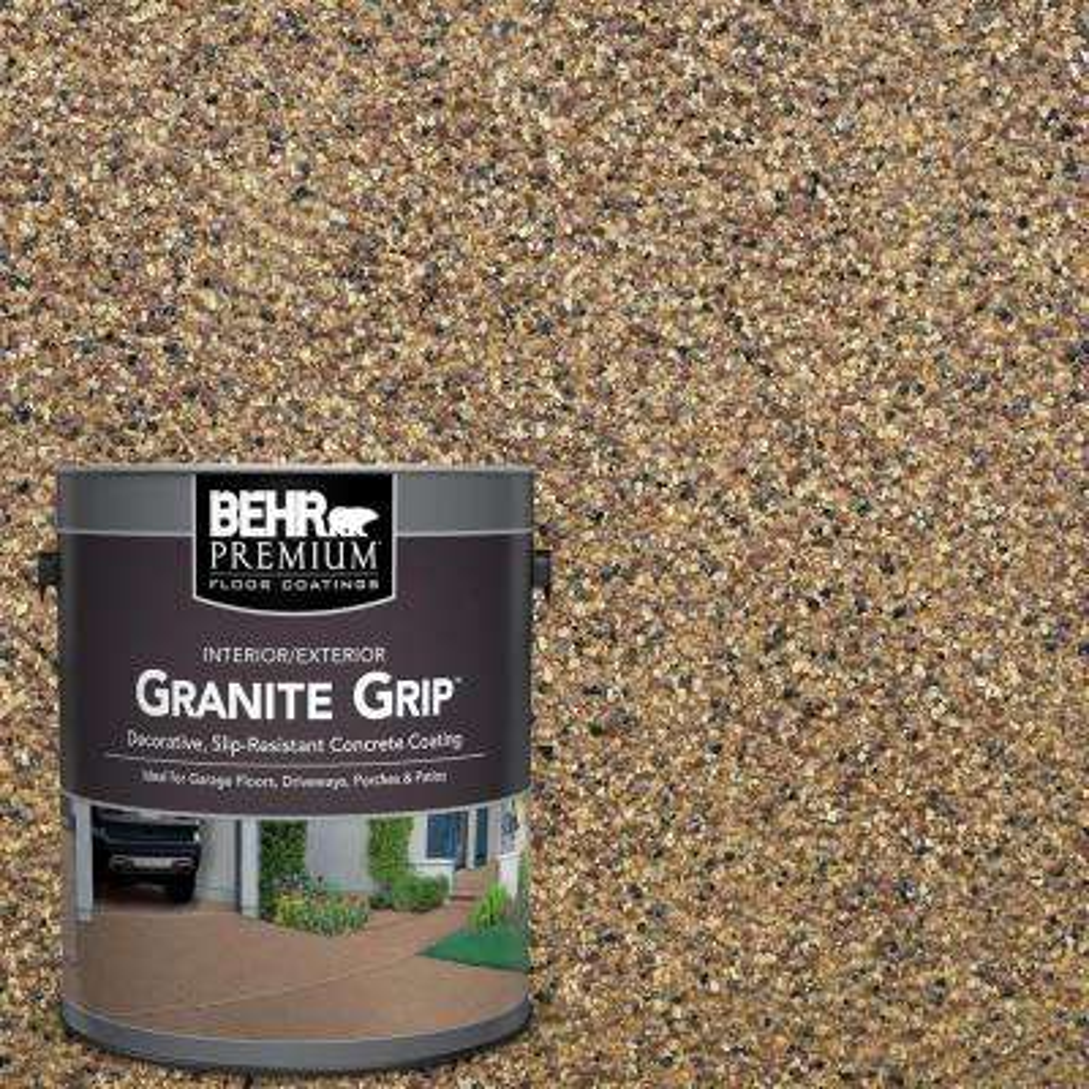 1 gal. #GG-13 Pebble Sunstone Decorative Concrete Floor Coating