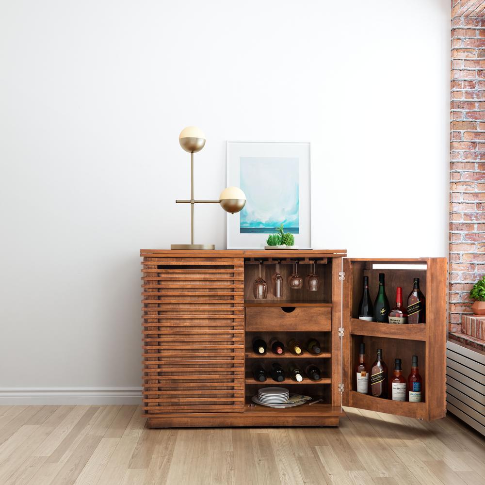 ZUO Linea 8-Bottle Walnut Cabinet-100670 - The Home Depot on elite modern, nuevo modern, light bulb chandelier modern, zen modern,