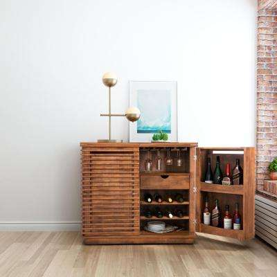 Linea 8-Bottle Walnut Cabinet