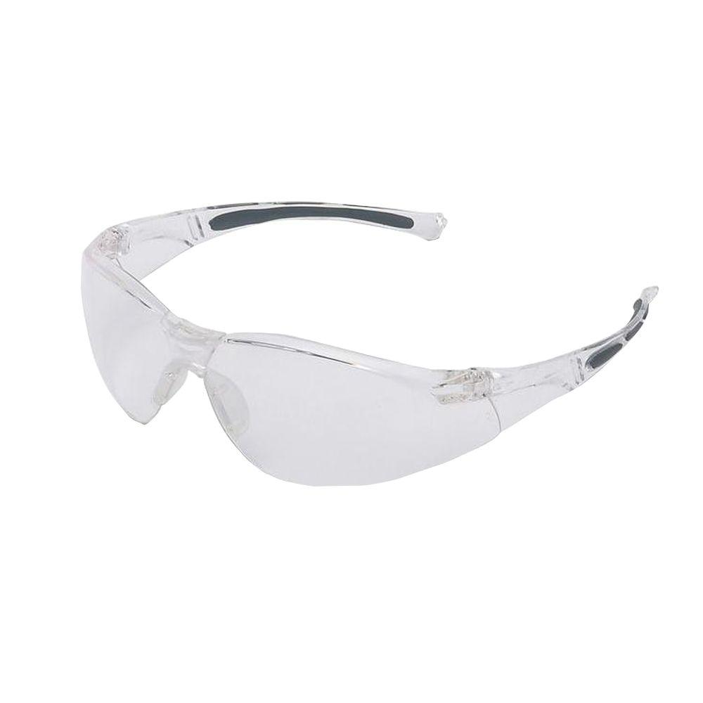 Sperian A800 Series Wrap-Around Safety Glasses with Clear Tint Hardcoat Lens and Clear Frame