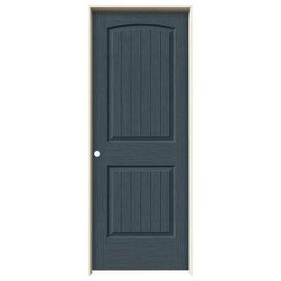 32 in. x 80 in. Santa Fe Denim Stain Right-Hand Solid Core Molded Composite MDF Single Prehung Interior Door