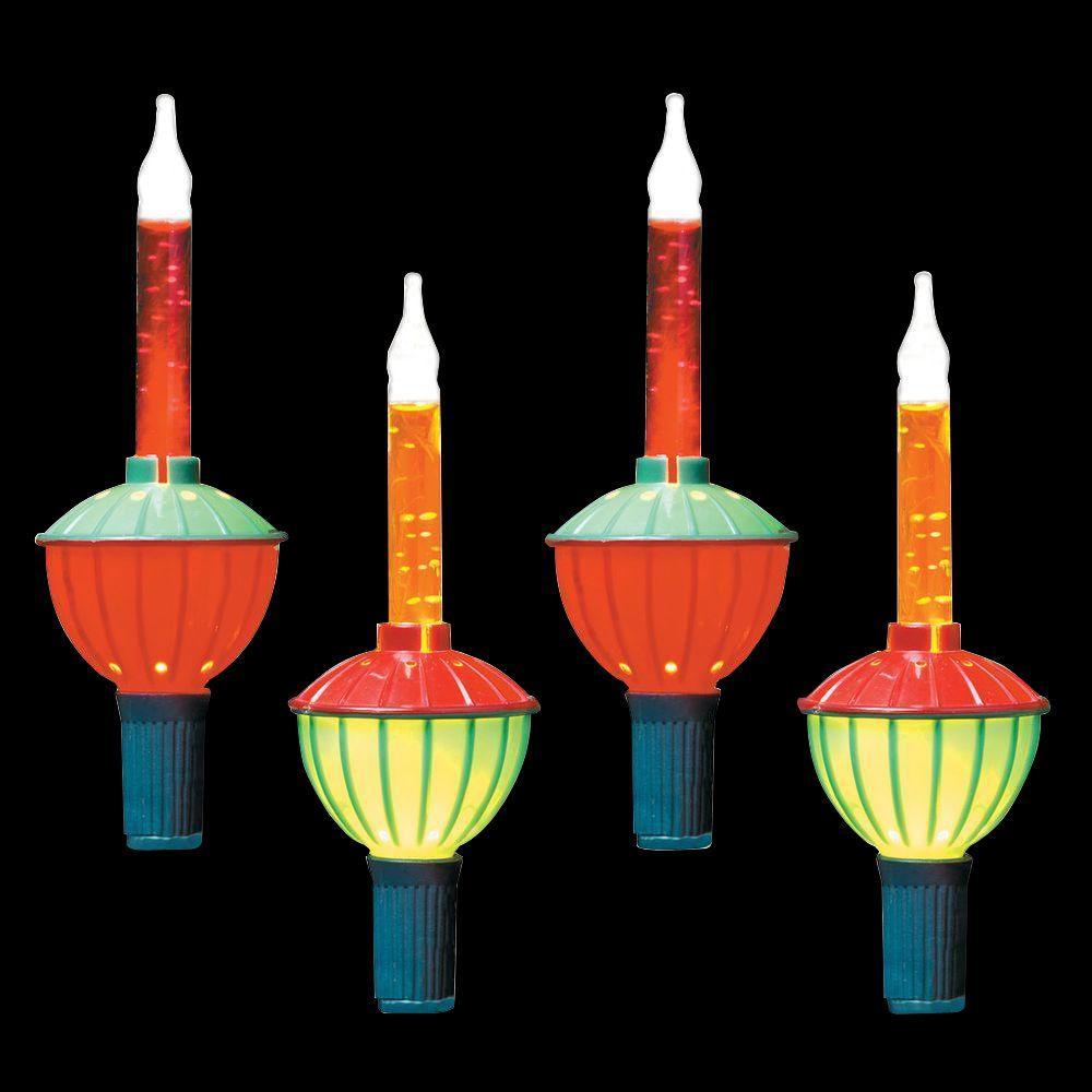 6 ft. 7-Light Incandescent Multi-Color Traditional Bubble Light Set
