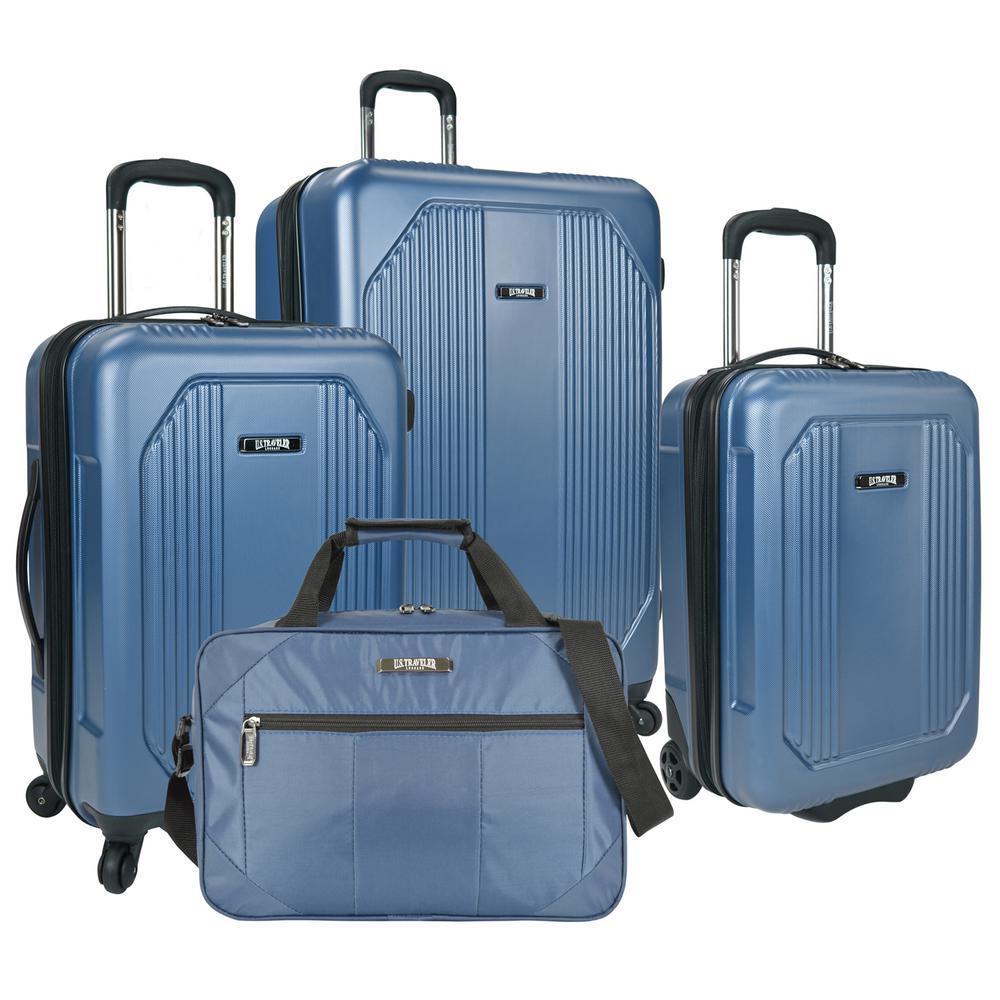 Bloomington 4-Piece Spinner Luggage Set, Blue
