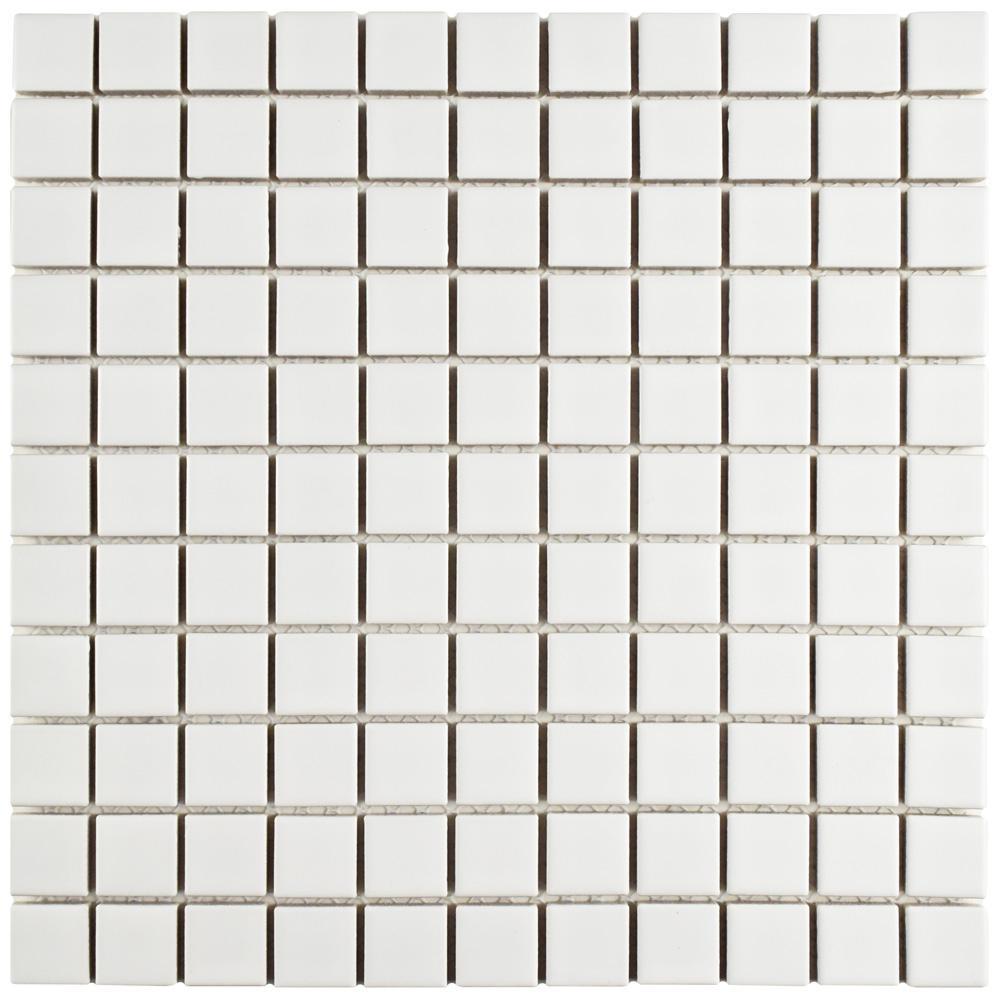 Metro Square Matte White 11-3/4 in. x 11-3/4 in. x 5