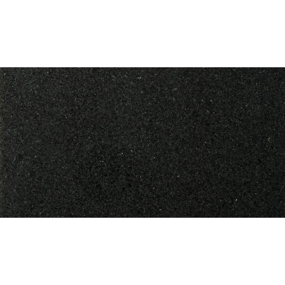 Granite Absolute Black Polished 12.01 in. x 24.02 in. Granite Floor