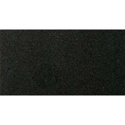 Granite Absolute Black Polished 12.01 in. x 24.02 in. Granite Floor and Wall Tile