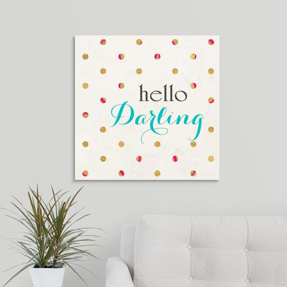 GreatBigCanvas ''Hello Darling Square'' by SD Graphics Studio Canvas Wall Art