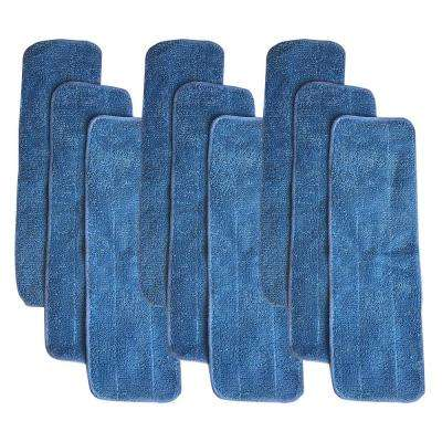 9-Pack Replacement Microfiber Mop Pads, Fits Bona Mops, Washable and Reusable, Compatible with Part AX0003053