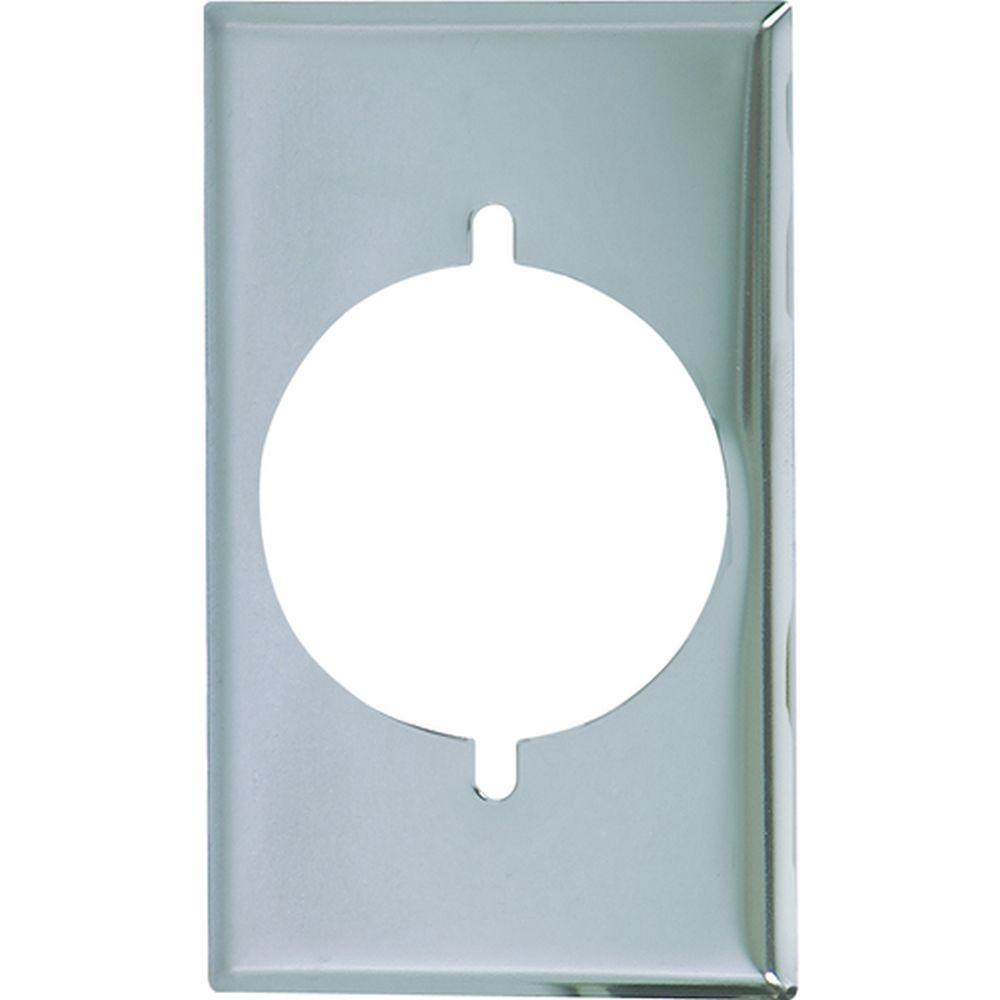Eaton 1 Gang Standard Size Power Single Outlet Plate - Chrome-39CH ...
