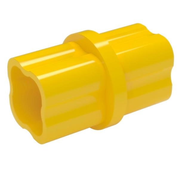 1 in. Furniture Grade PVC Sch. 40 Internal Coupling in Yellow (10-Pack)
