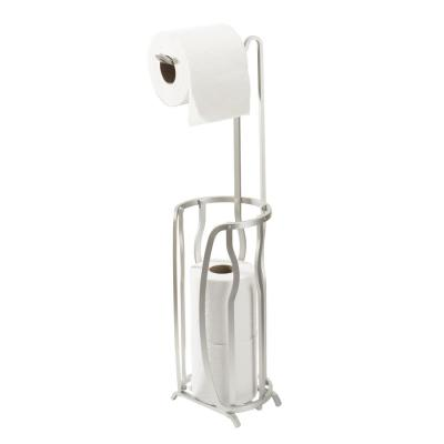 Aluminum 4-Roll Toilet Paper Reserve and Dispenser
