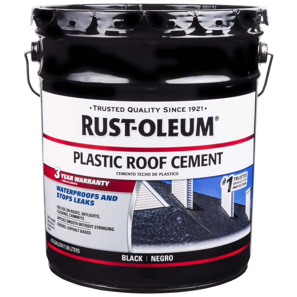 Rust Oleum 4 75 Gal All Weather Black Plastic Cement