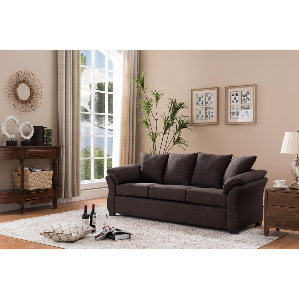 Crawford & Burke Salta Dark Gray Linen Sofa