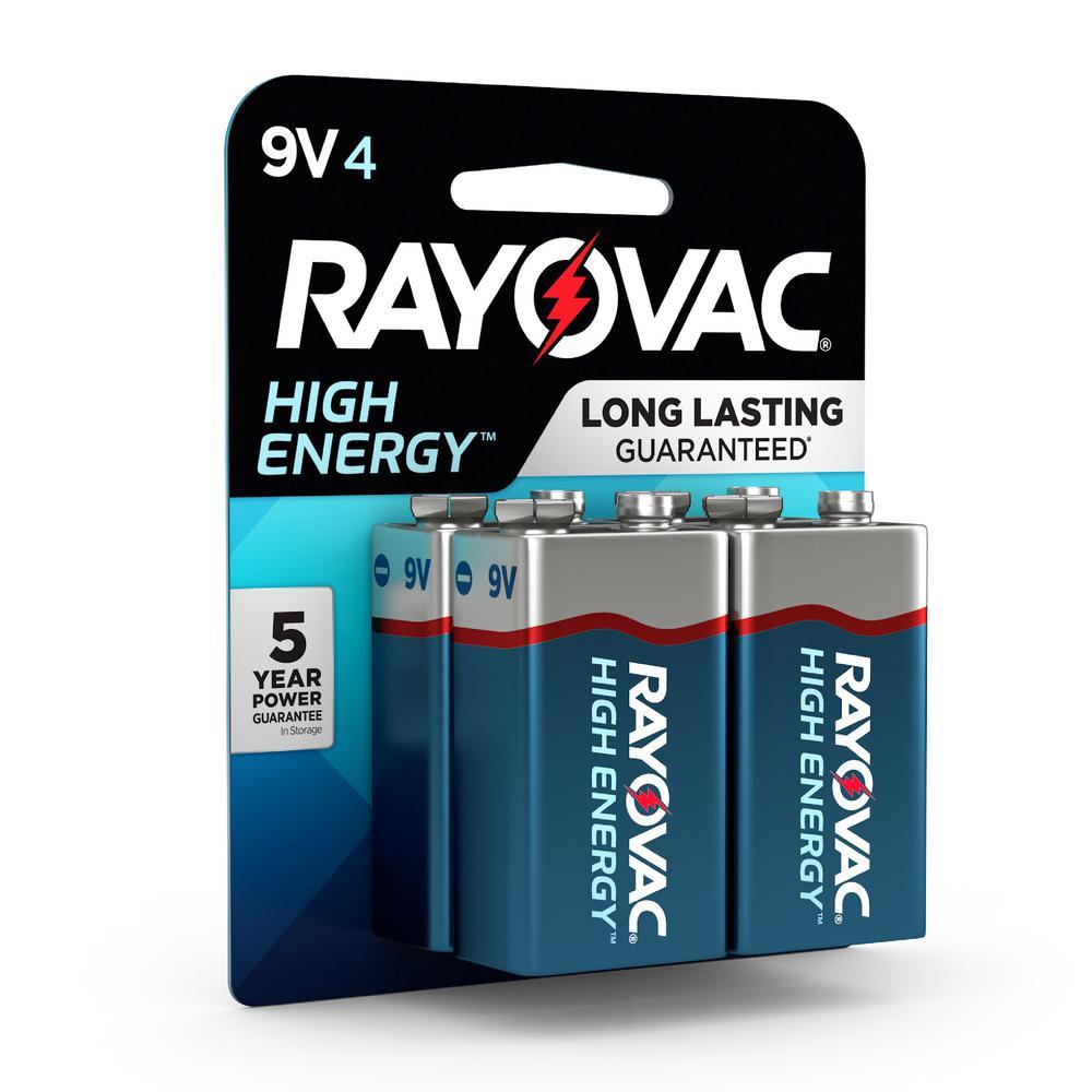 Rayovac High Energy Alkaline 9 Volt Battery (4-Pack)