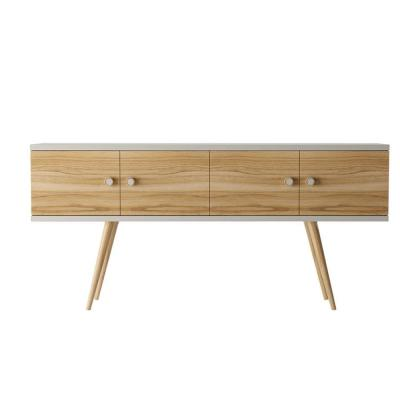 Theodore 60.0 Off White and Cinnamon Sideboard