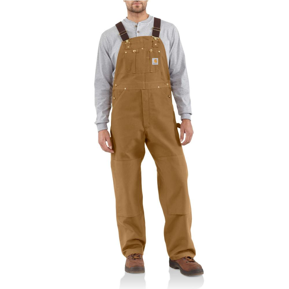 Men'S 28 in x 34 in. Carhartt Brown Cotton Duck Bib