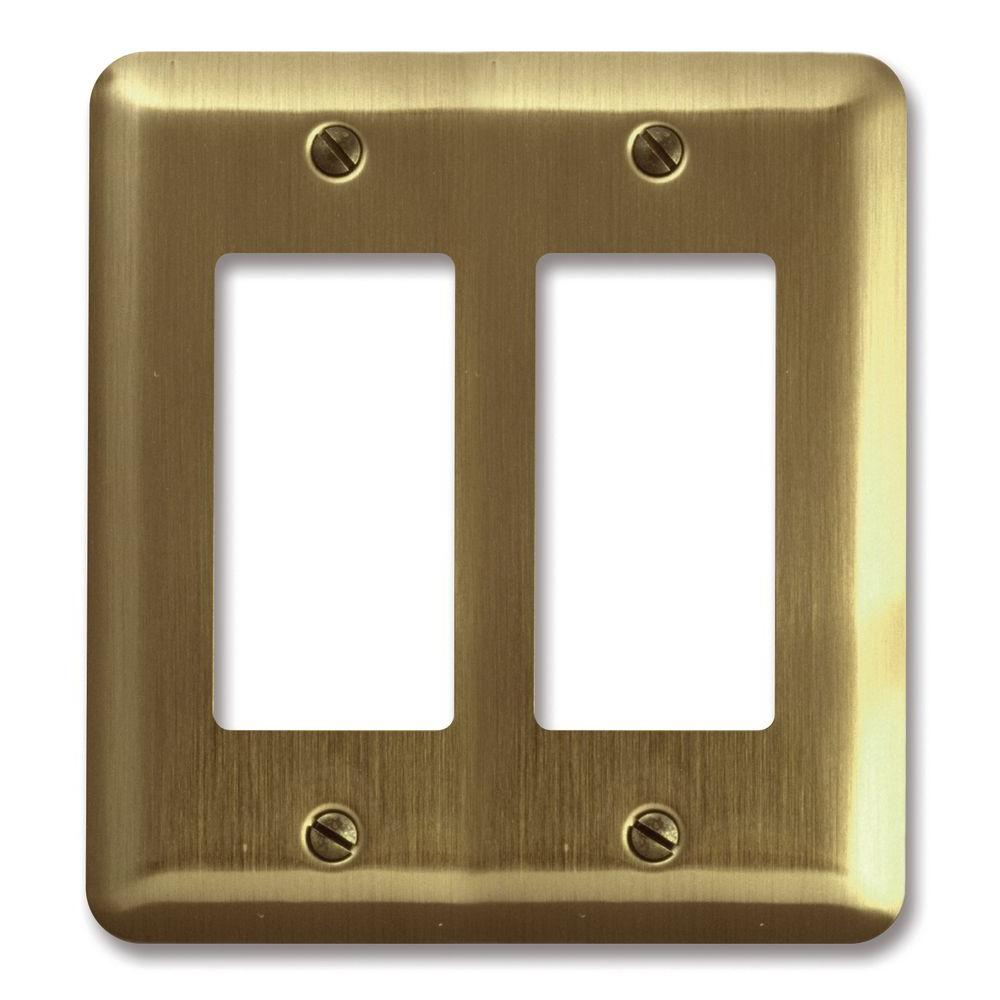 Steel 2 Decora Wall Plate - Brushed Brass