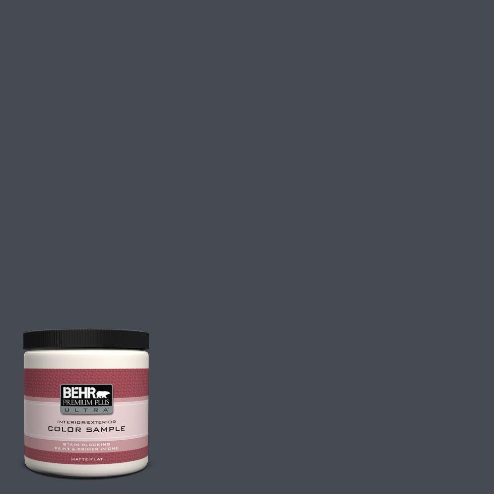 BEHR Premium Plus Ultra 8 oz. Home Decorators Collection Black Ribbon Interior/Exterior Paint Sample