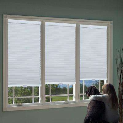 Cut-to-Width White 1.5 in. Cordless Blackout Top Down Bottom Up Cellular Shade - 63.5 in. W x 72 in. L