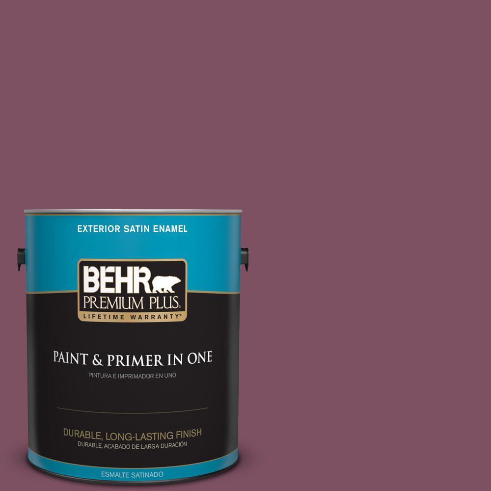 1 gal. #PPU1-19 Classic Berry Satin Enamel Exterior Paint