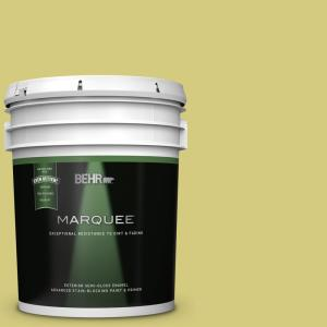 Behr Marquee 5 Gal P350 4 Spring Grass Semi Gloss Enamel Exterior Paint Primer 545405 The Home Depot