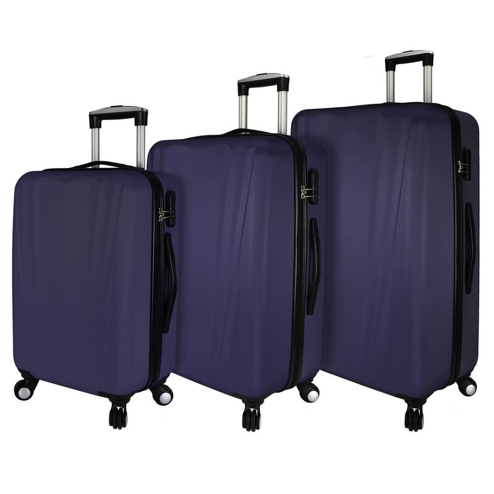 Hardside 3-Piece Spinner Luggage Set, Purple