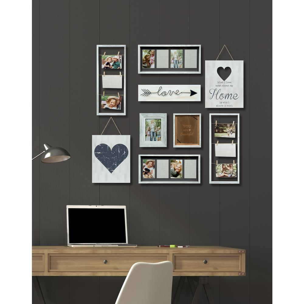pinnacle heart decor white collage kit picture frame